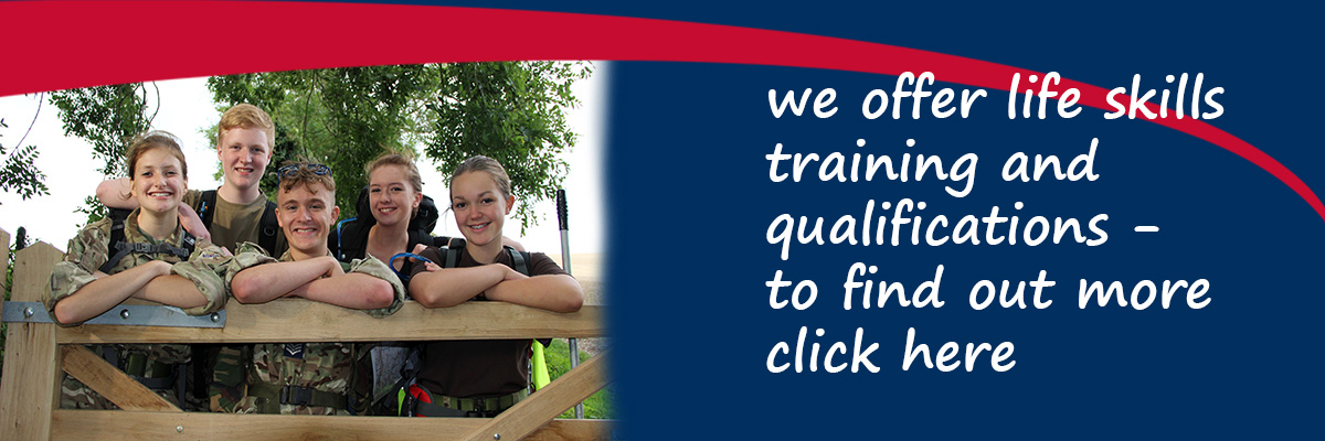 RAF Air Cadets offer life skills training and qualifications - to find out more click here